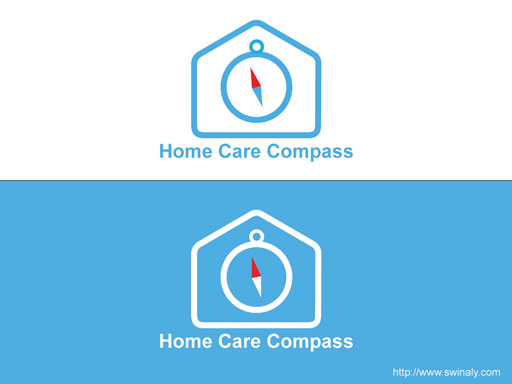 Home Care Compass Logo Design